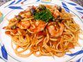 料理メニュー写真カルボナーラ/小海老としめじのトマトソース/マルセイユ風クリームソース(魚貝類)