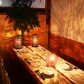 光の織り成す上品なカップルシート個室は高田馬場でのデートをワンランク上げること間違いなし!落ち着いた雰囲気の寛ぎの個室席は二人の距離をより一層近づけます♪いつもと違ったデートを楽しみたいお客様にオススメの個室空間になっております♪