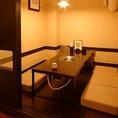 掘りごたつ完全個室は人気の為、早めのご予約をオススメします!