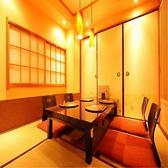 2名様からご利用いただける個室お座敷席は、接待や仲間内でのご宴会におすすめです。