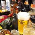 ビールやハイボールなど飲み物にこだわり有り!ハイボールは専用のサーバーを導入し、他では味わえないようなシュワシュワキレキレの超炭酸でご提供!ウイスキーは4種以上取り揃えており、ハイボールの種類は無限大!