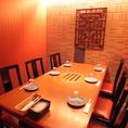 こちらのテーブル席も個室です!