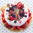 【写真ケーキ・ホールケーキ】写真ケーキ・ホールケーキをご用意!ウェディングケーキはもちろん、大きなケーキもご用意できますので、様々なシーンにご利用頂けます★(※写真ケーキは一週間前までに要予約)