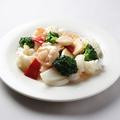 料理メニュー写真ホタテ,エビ,イカの野菜入り香味炒め/ホタテの豆鼓炒め
