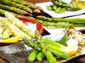 料理メニュー写真北海道産2Lサイズ グリーンアスパラ
