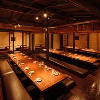 仙台で最大100名様までご利用可能な掘りごたつの個室!