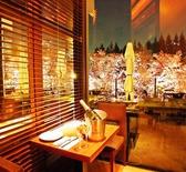 個室窓際テーブル席
