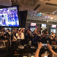 サッカー・野球…放映中!!