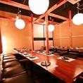 大型宴会や各種歓送迎会などに便利な宴会席です♪◆新宿×個室居酒屋◆