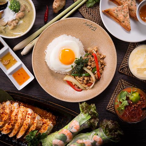 ◆スタンダードプラン◆ガパオ炒めご飯やアジアンデザート等全9品◆5478円