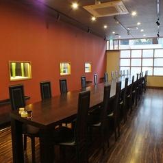 20名様までご利用可能なバリアフリータイプの個室は1階に有り。