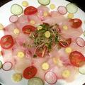 料理メニュー写真季節の鮮魚のカルパッチョ