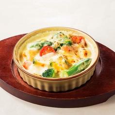 料理メニュー写真野菜セイロ蒸し(味噌マヨネーズ)/1日分の野菜がとれるクリームグラタン