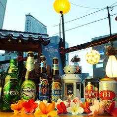 ベトナムのビールも多数ご用意♪異国気分を味わえます!