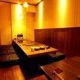 【会社宴会・各種ご宴会に】【掘りごたつ式座敷】お店で一番奥の空間の半個室空間です。最大14名様まで収容可能です。