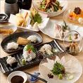 穴子料理を堪能できるコースは4000円~◎