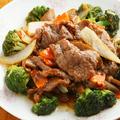 料理メニュー写真牛肉とブロッコリーの炒め