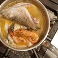 鳥取県境港から仕入れる魚介を贅沢にふんだんに煮込み