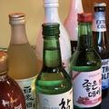 料理メニュー写真韓国酒など各種取り揃えております。