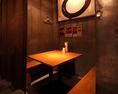 半個室席が大人気☆こちらは、焼き場に近くアツアツの焼き物が食べられる個室になります。