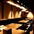 カーテンで仕切れるテーブル席多数。【赤坂見附/居酒屋/飲み放題/3時間/宴会/団体/大人数/おすすめ/貸切/個室/女子会/誕生日/記念日】