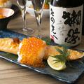 料理メニュー写真どっさりいくらのトロ鮭ハラス焼き