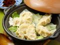 料理メニュー写真蒸し鍋餃子(6個)