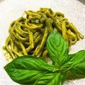 料理メニュー写真自家製無農薬バジルと松の実パルミジャーノチーズのジェノベーゼ