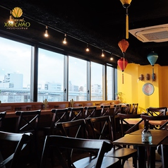 【カウンター席/11席】隅田川を一望できる!おひとりさまのほか、デート・ランチにも♪
