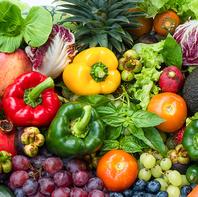 自慢の新鮮野菜と相性抜群なメニューが充実しています。