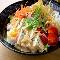 料理メニュー写真温泉玉子とパリパリ湯葉・お豆腐のサラダ★