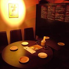テーブル席も個室感あり☆
