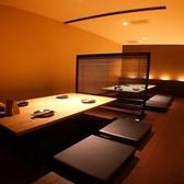 2Fの掘りごたつ席個室は人数に合わせて半個室にすることもOK☆ゆったり寛げます♪