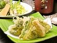 季節限定のお料理1例(春):春野菜の天ぷら