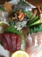 新鮮なお魚が美味しい♪コースは3500円からご用意。