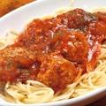 料理メニュー写真ハーブミートボールのトマトソースパスタ