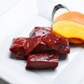 料理メニュー写真神石和牛の厚切り上塩レバー焼
