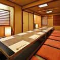 大人数の宴会も、多数の実績がある当店にお任せ下さい。個室をつなげた空間は、20名~最大40名様まで対応可能です。