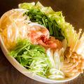 料理メニュー写真鍋料理の直送野菜です☆