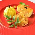 料理メニュー写真パンプキンミルクアイスと焼き芋バターケーキ