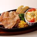 料理メニュー写真ハンバーグ&ミニグラタン