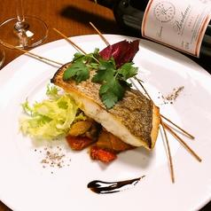 料理メニュー写真真鯛のポワレアンチョビカポナータ