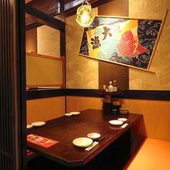 個室風のBOX席♪落ち着いた雰囲気です!気の合うご友人とのお食事やカップルでのご利用にも適しています。