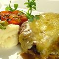料理メニュー写真とちぎ和牛100%たっぷりチーズのハンバーグ