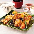 料理メニュー写真鶏と野菜の黒酢あん定食