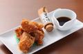 料理メニュー写真鶏の唐揚げ 九条ねぎポン酢で