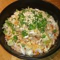 料理メニュー写真がっつり坦々素麺