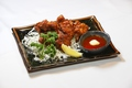 料理メニュー写真ジューシー若鶏の唐揚げ