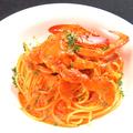 料理メニュー写真わたりがにのトマトクリームスパゲティ