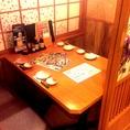 プライベートシーンで大活躍♪人気のテーブル席です。